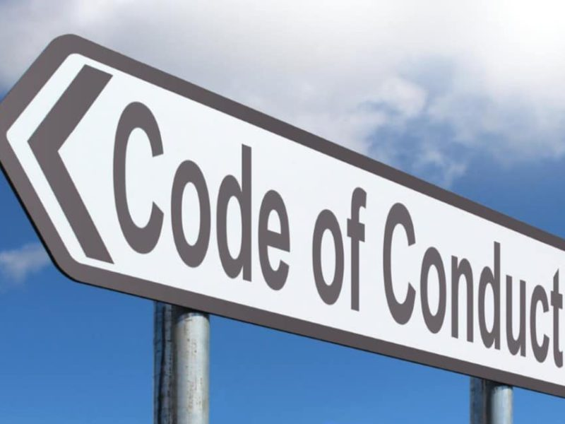 Road sign for blog piece Client's Code of Conduct