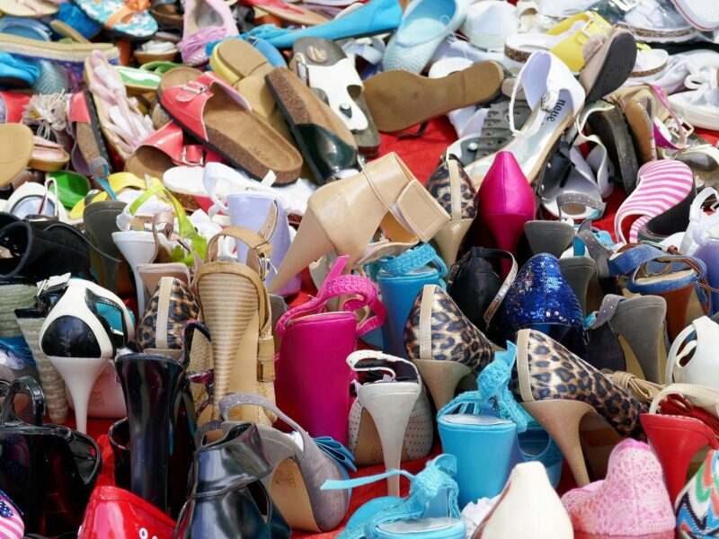 A photo of alot of heels and lady's shoes. Image for article A box of stripper heels. NZ Pleasures.